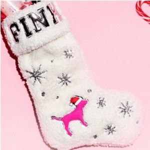 Victoria's Secret PINK Christmas Stocking Sherpa
